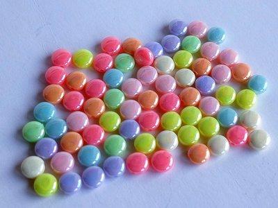 Perle  piatte acriliche mix   PRL15N