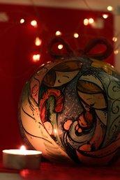 Sfera da tavola natalizia con Natività