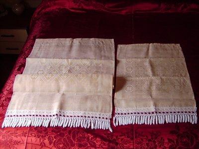 ASCIUGAMANI parure e coppie, fiandra di lino damascata, cotone 100% italiano, spugna morbida e assorbente