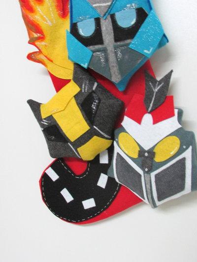 calza ispirata al mondo deiTransformers