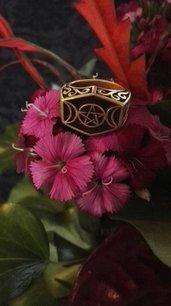 Anello Fasi Lunari esagonale bronzo