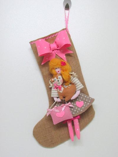 Calza bambola con cerbiatto