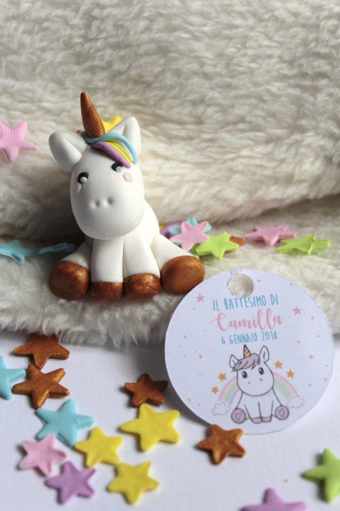 bomboniera unicorno completa con confetti