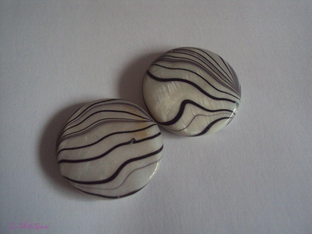 2 pezzi Pastiglia in madreperla