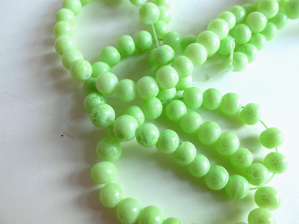 Perle verde screziate  PRL18N-330