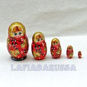 matrioska russa nero rosso dorato