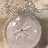 Decorazione di Natale - palla di Natale ricamata a punto antico