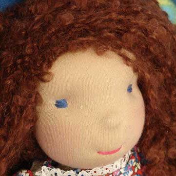 bambola waldorf Dascia, fatta a mano, 35 cm, handmade doll