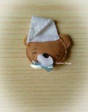 Bomboniera bimbo orsetto nanna in feltro confettata nascita battesimo