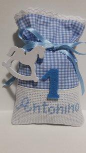 Bomboniere 1 Compleanno con nome personalizzato, sacchetti confetti Primo Compleanno