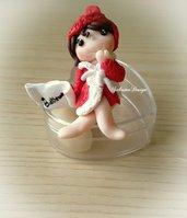 Bambolina bagno con carta igienica idea regalo originale arredo bagno