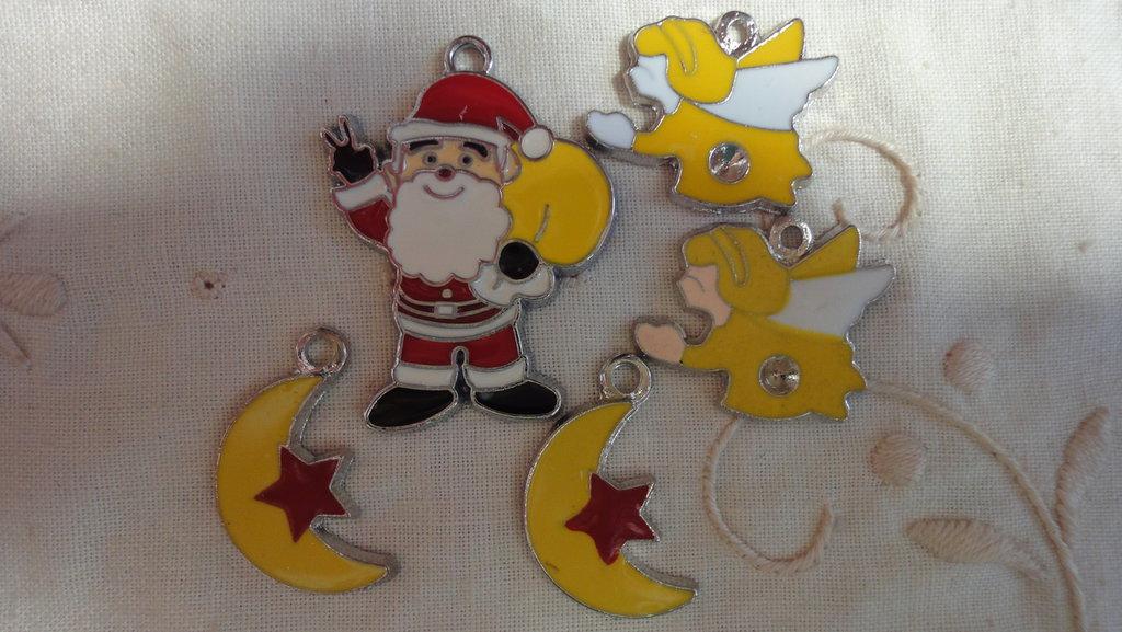 5 Ciondoli Natale in smalto