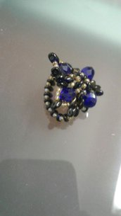 anello color blu
