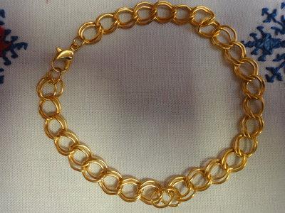 2 Bracciali maglia doppia cm.21 color oro