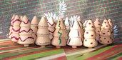 Lotto Abeti - Alberelli in Legno con decorazioni in glitter (20pz)