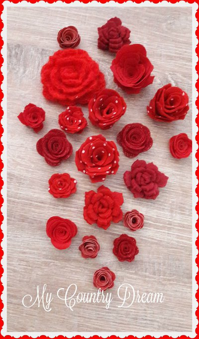 Set rose rosse