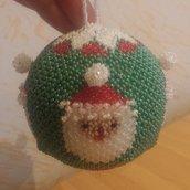 pallina Babbo Natale ponpon