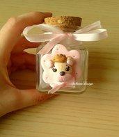 Bomboniera orsetto principessa bimba confettata nascita battesimo compleanno