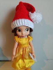 Cappello di Babbo Natale per bambini ad uncinetto, cappello con pom pom, regalo di Natale, regalo per bambini unisex, lana baby