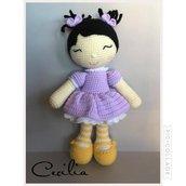 Bambola Miong-Bambola amigurumi-Bambola uncinetto-crochet doll -peluche-pupazzo amigurumi