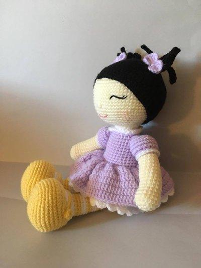 Bambola Miong Bambola Amigurumi Bambola Uncinetto Crochet Doll Pel
