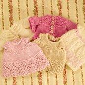 Vestitino o maglietta di lana per orsetti/panda/conigli realizzati a maglia.Made in Italy