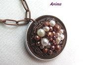 Lunga collana  bronzo   art22