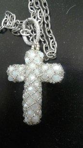collana croce bianca