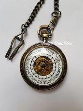 Collana Orologio Funzionante Fatto a Mano Famiglia Weasley Harry Potter Orologio Magico Incisioni Personalizzate Hogwarts Grifondoro HP Boccino d'oro Ron Weasley Cosplay