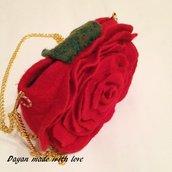 Borsetta piccola Rosa Rossa