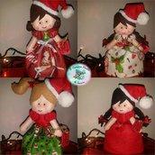 bambole natalizie in pannolenci