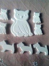 gessetti profumati  in polvere di ceramica cagnolini e gattini