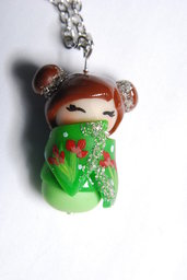 ciondolo geisha verde