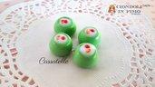 Cassatelle sicilia fimo ciondolo charms premo bomboniere materiale per creare bigiotteria dolci