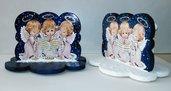 Angeli bianco o blu in legno sagomato