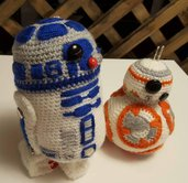 Amigurumi BB8 e R2D2 star wars