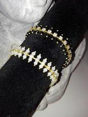 Bracciale perline e strass