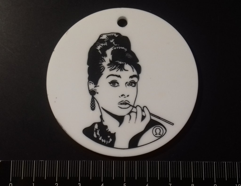 (465) Colazione da Tiffany ciondolo plexiglass bianco
