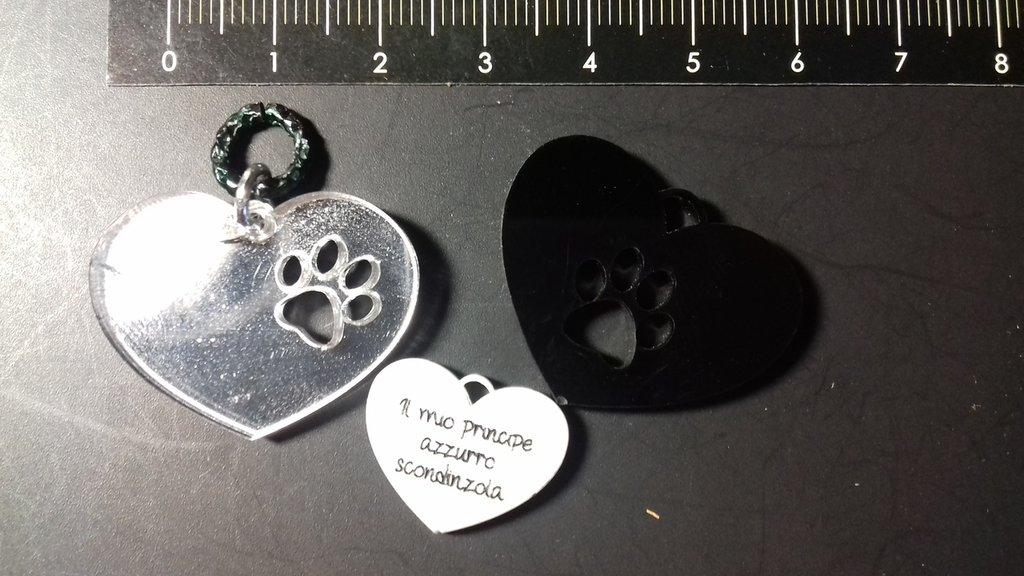 (462) tris ciondolini cuore e ormetta