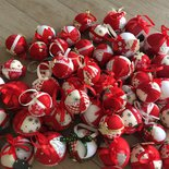 Palline di Natale in pannolenci e stoffa
