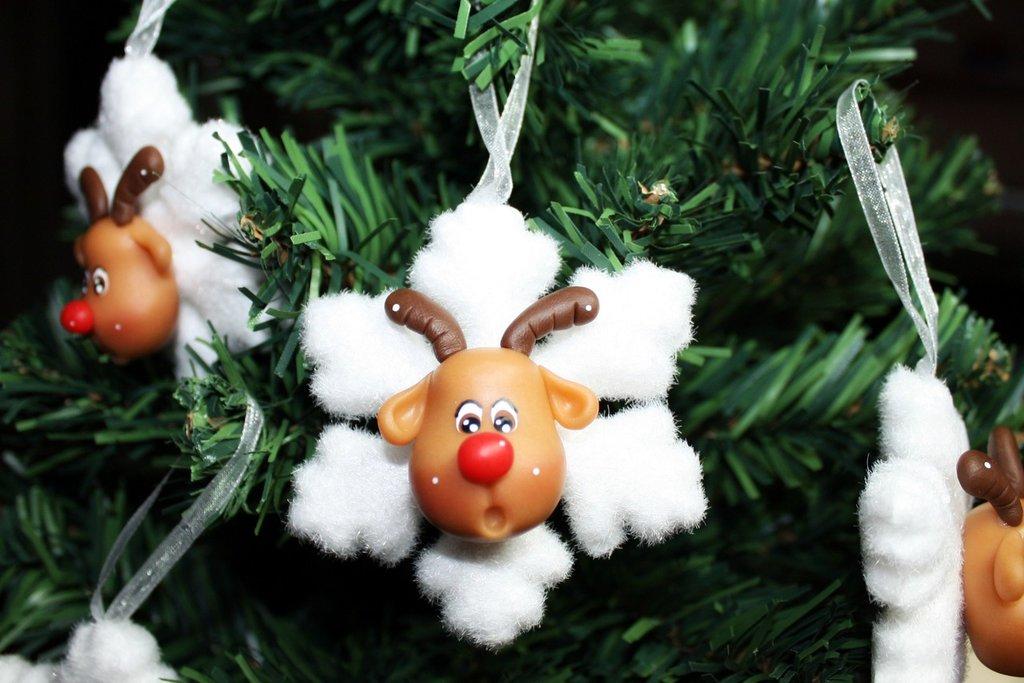 Rudolph ciondolo di natale in pasta di mais