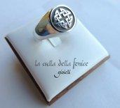 Anello Personalizzato Chevalier Rotondo  da Sigillo Argento
