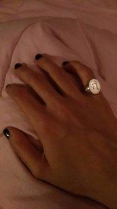 Anello Personalizzato Chevalier  Ovale  da Sigillo Bronzo