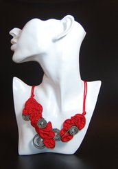 Collana RED PASSION zip