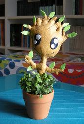 io sono Groot! guardiani della galassia- guardian of the galaxy - oggetto da collezione fantasy - feltro - felt