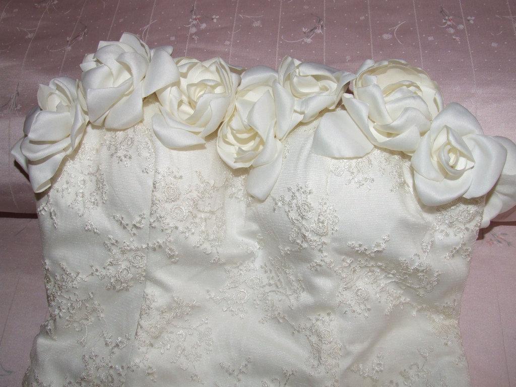 abito da sposa taglia 40-42 regolabile,su misura