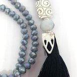 Long necklace grigia tassel black