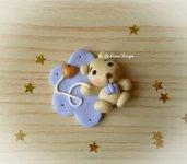 Bomboniera orsetto palloncino cuore bimbo confettata nascita battesimo compleanno