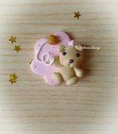 Bomboniera orsetto palloncino cuore bimba confettata nascita battesimo compleanno