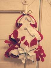 dietro porta natalizio in pannolenci